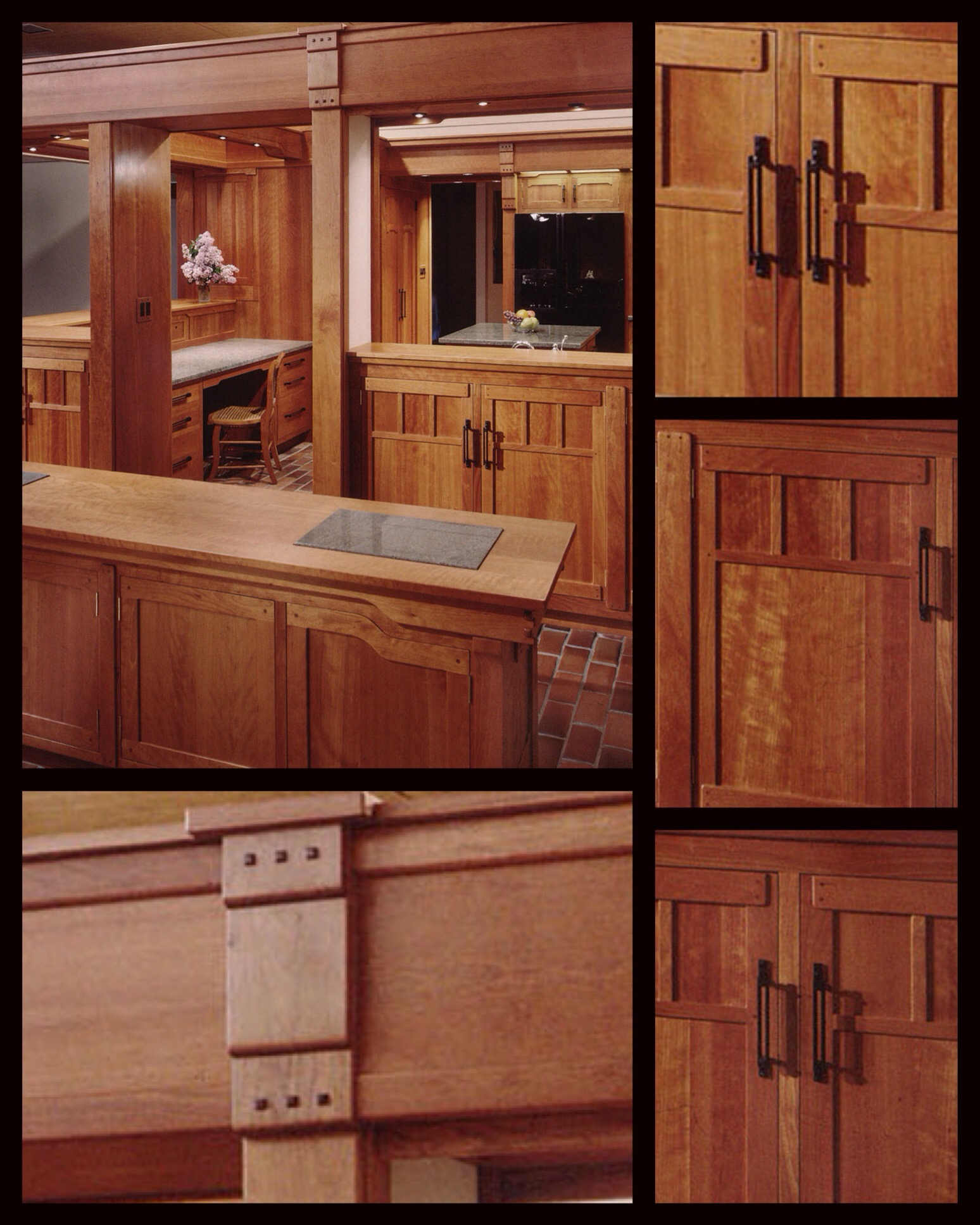 cherry, hardwood, design/build and handcrafted by the woodworkers and designers of a small business cabinetry design shop in barboursville va