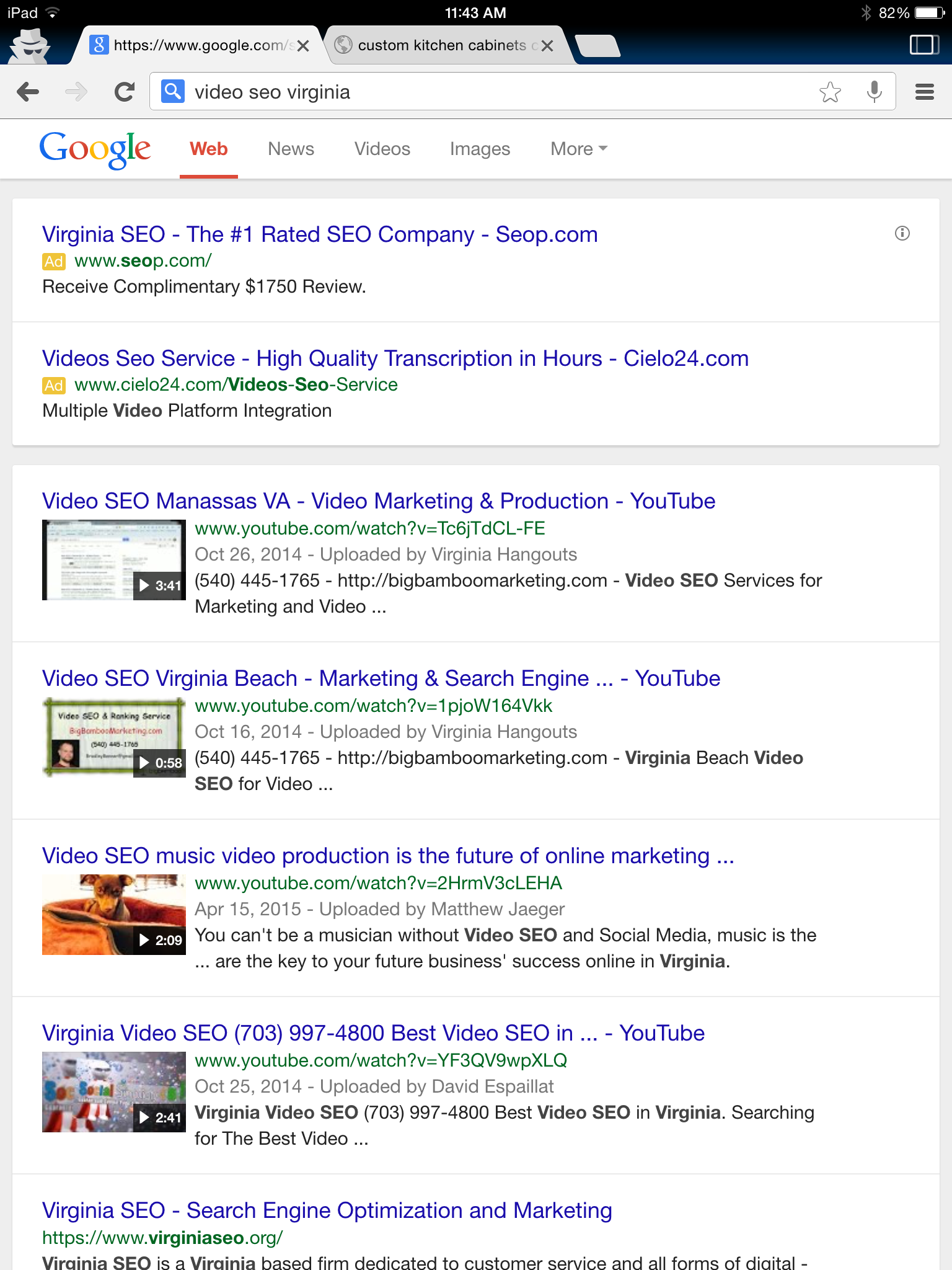 best SEO, front page ranking social media video SEO, global posting super corporation