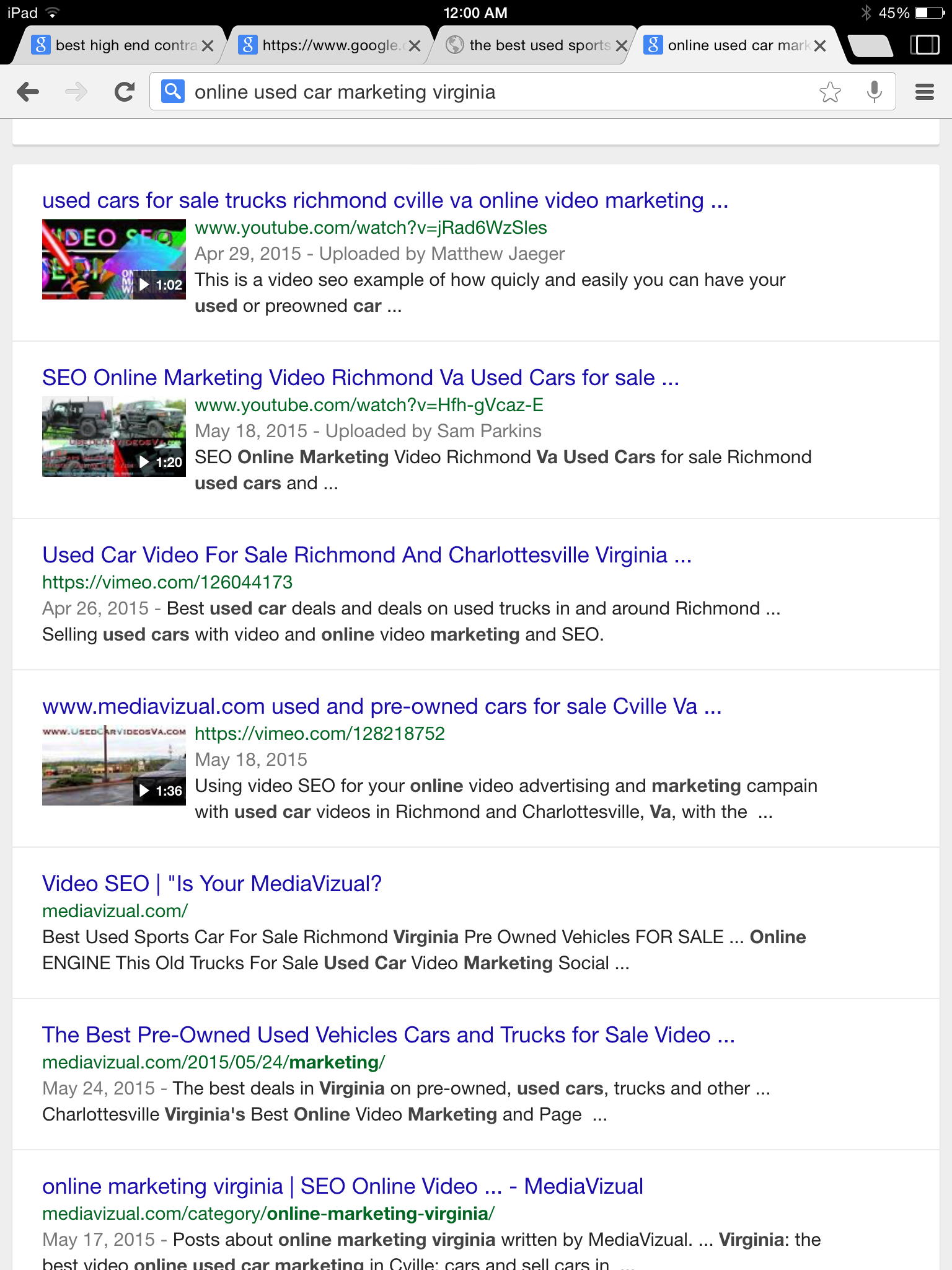 organic content media marketing page ranking SEO