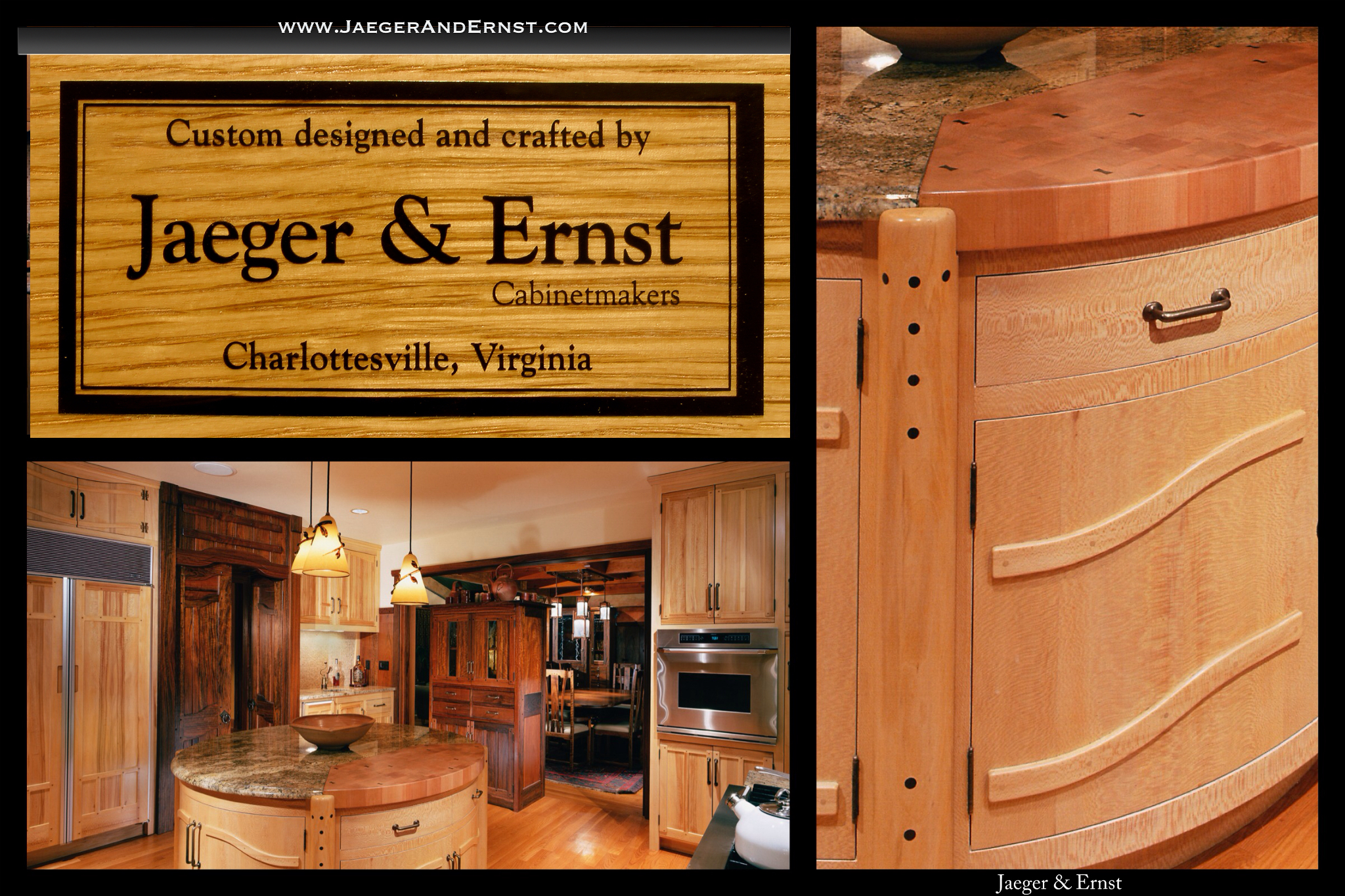 www.JaegerAndErnst.com Local Custom Kitchen Cabinetry Designers Best in Ca, Fl, Ny Ny, MA, DC. Most reliable, dependable, and service oriented, design/build cabinet makers, with 43 years of handmade and individually designed, custom kitchens and interior woodworking,