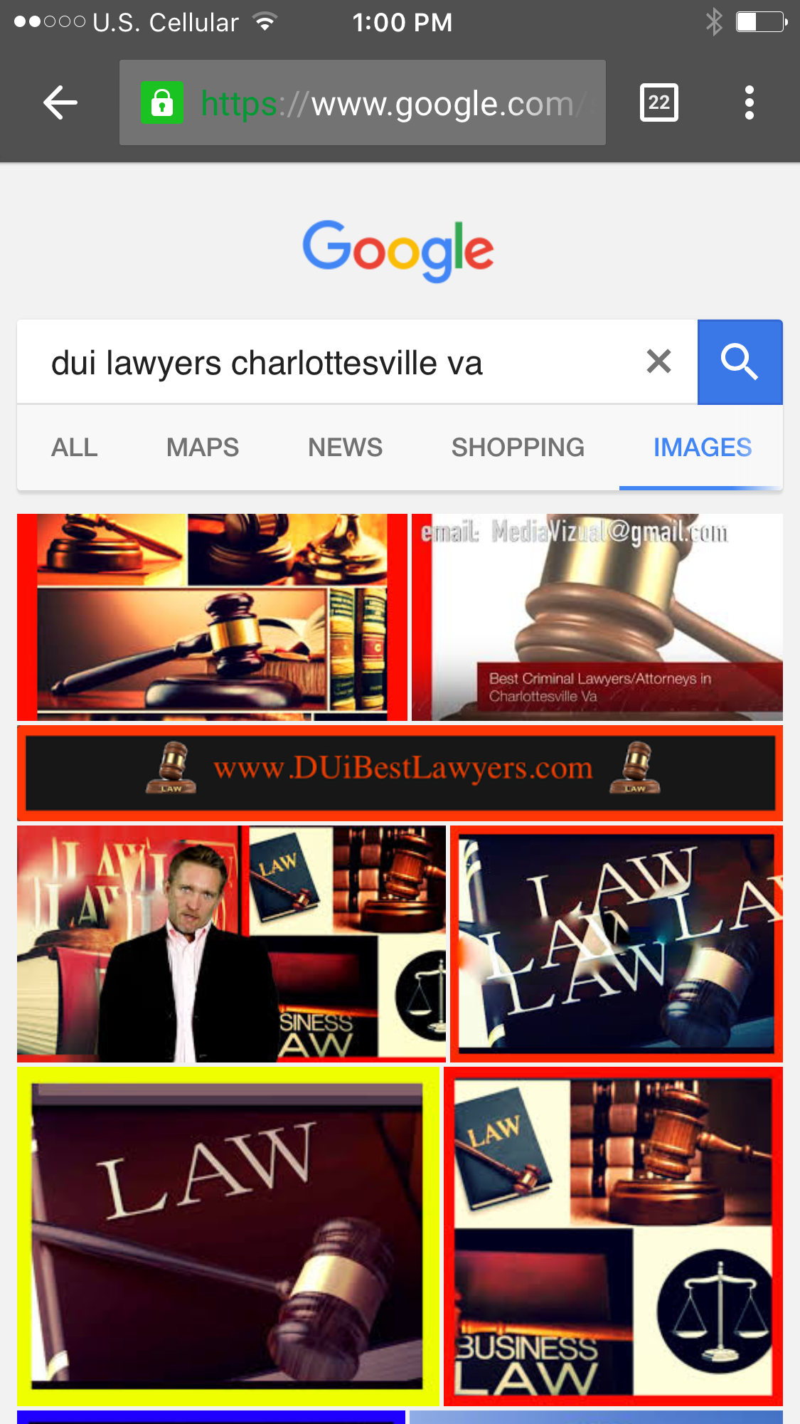 BEST  DUI  Lawyers and Attorneys in Richmond Virginia.  The best way to  market your law firm online, is to show up on the web results, the video results AND if you can mange to populate and engineer googles image reults for the best DUI LAWYERS IN RICHMOND Virginia, that's great Lawyer & Attorney Online Marketing http://www.DUIBESTLawyers.com